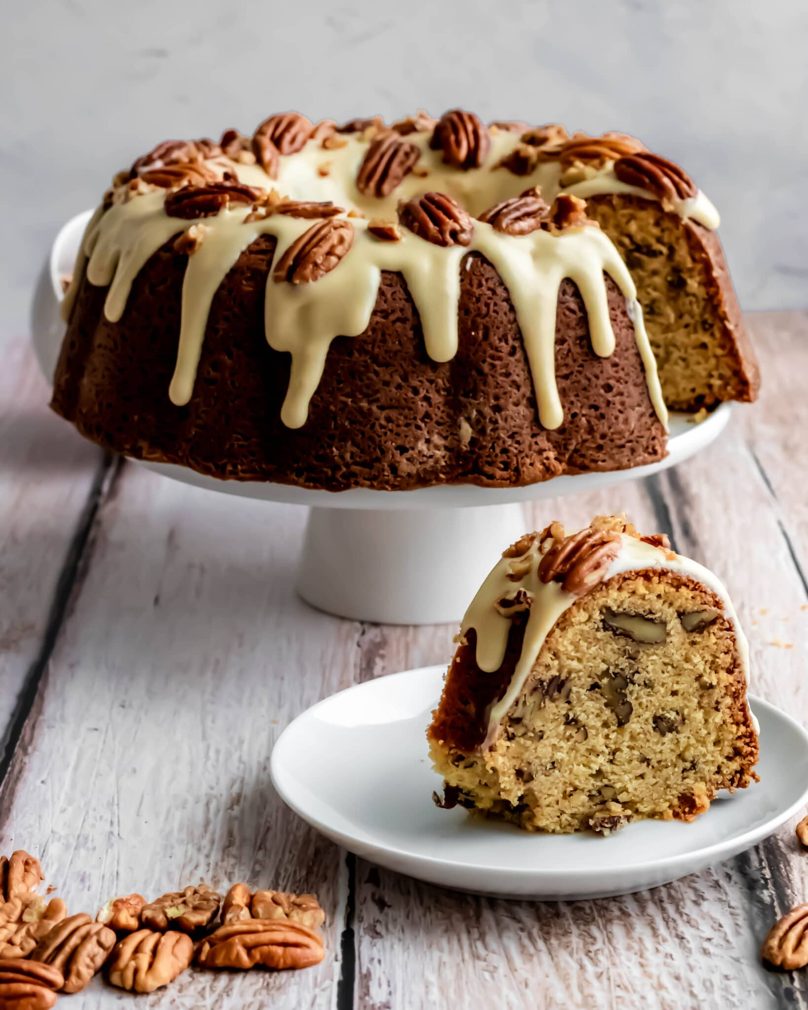 Maple Pecan Bundt Cake